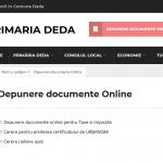 depunere documente online citymanager in primaria deda