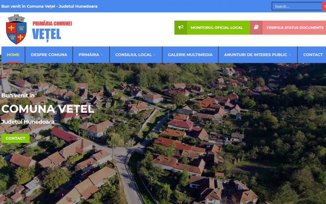CityManager implementat in Primaria Comunei Vețel din Hunedoara