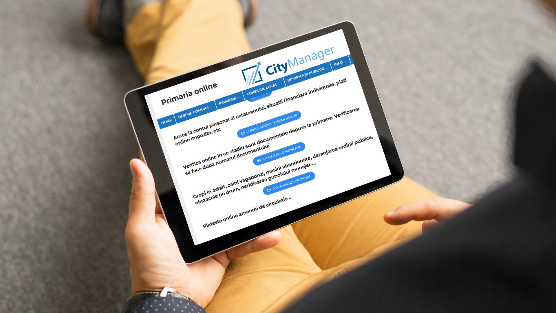CityManager mută Primăriile online. Primăria de acasă