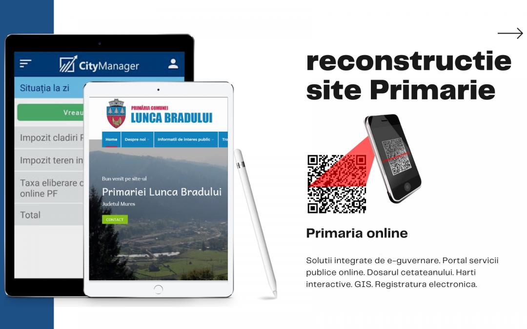 Reconstrucție site instituții publice