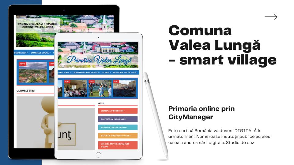 Smart village – Comuna Valea Lungă