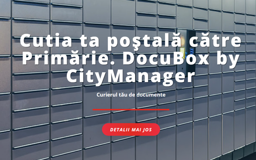 docubox by citymanager in primaria selimbar