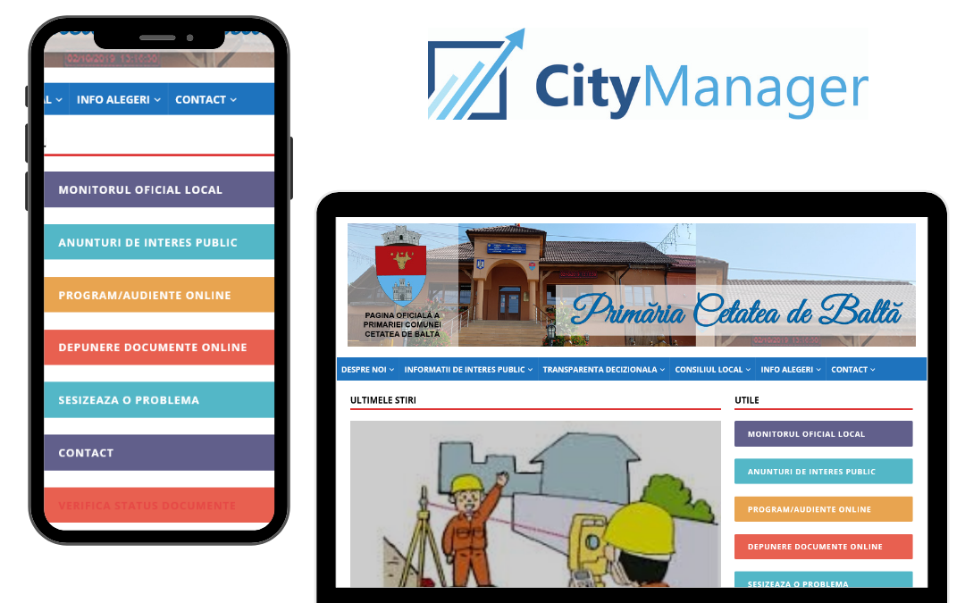 citymanager in cetatea de balta