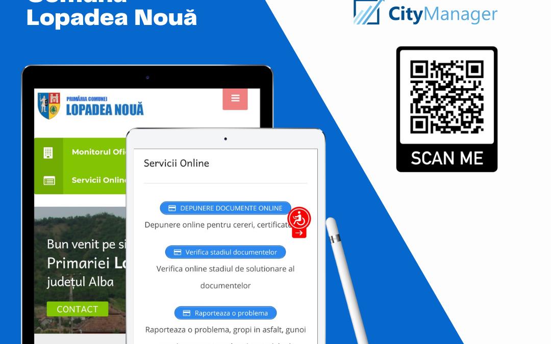 Lopadea Nouă se alătură comunității smart village prin CityManager